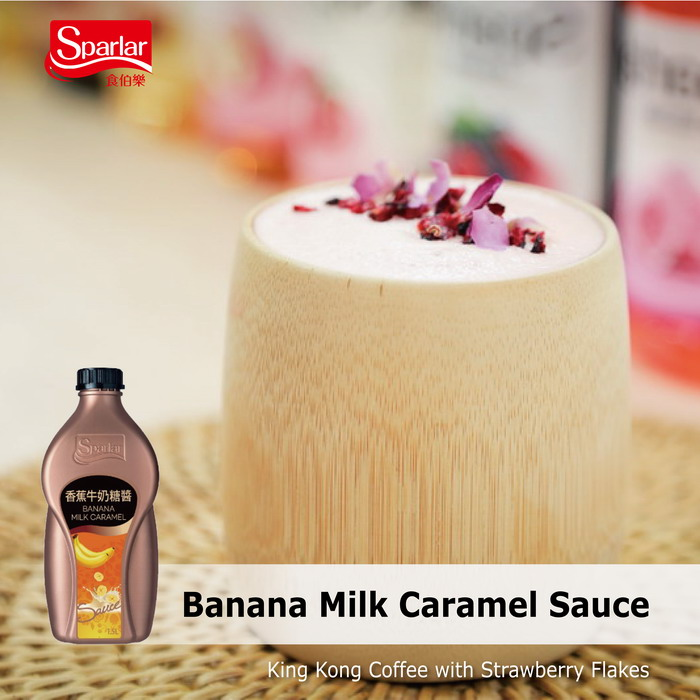 Sparlar Banana Milk Caramel Sauce_Coffee