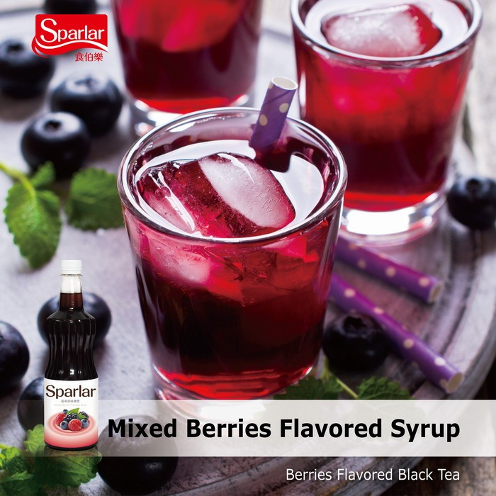 Sparlar Mixed Berries Flavored Syrup_Berries black tea